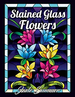 Lettering Stained glass flower...