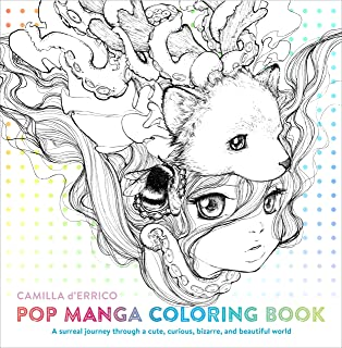 Lettering Pop manga coloring b...