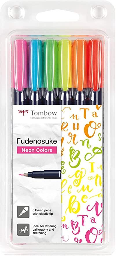 Fudenosuke 6 colores neon
